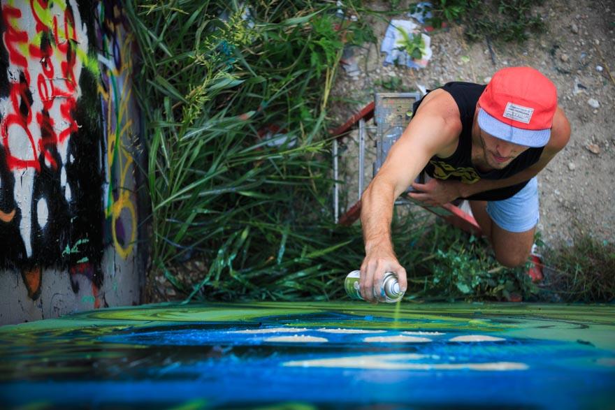Street Artist at Work