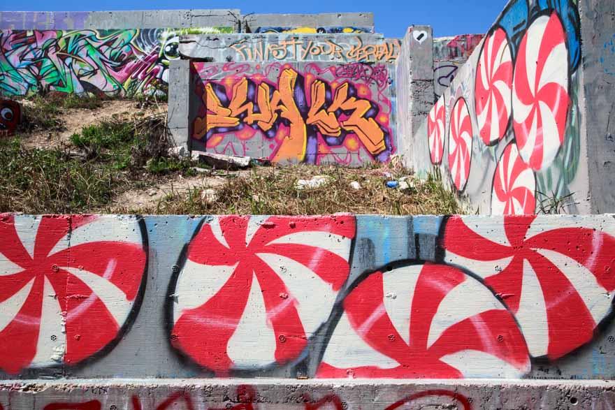 Peppermint Candy Mural Streetart