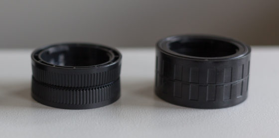 reversible two-sided lens cap for m43 cameras
