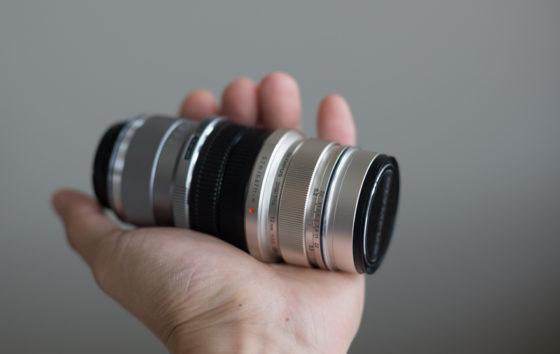 two lenses back to back m43