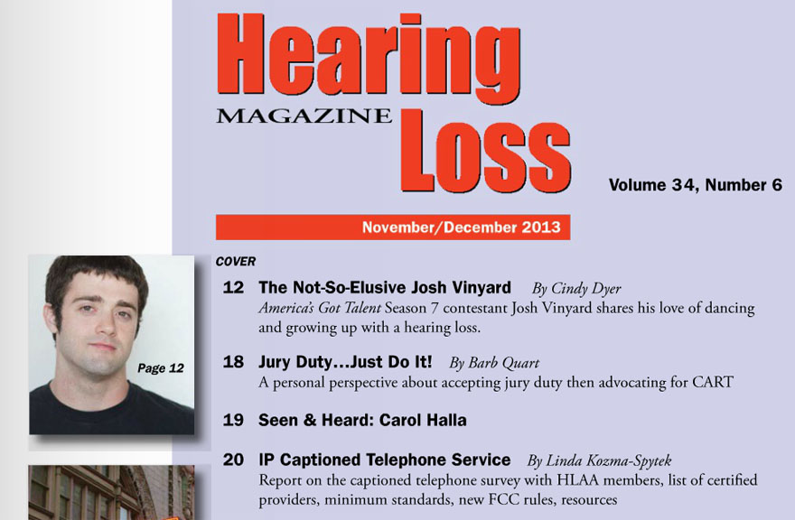 Hearing Loss Magazine - Josh Vineyard