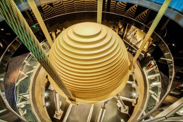 The Wind Damper inside of Taipei 101
