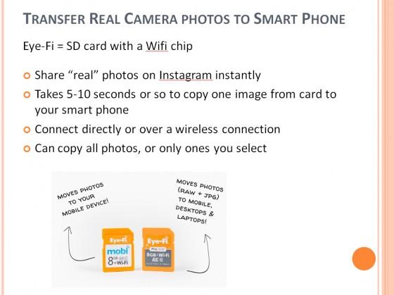 Eye Fi Card + camera - vs Smartphone