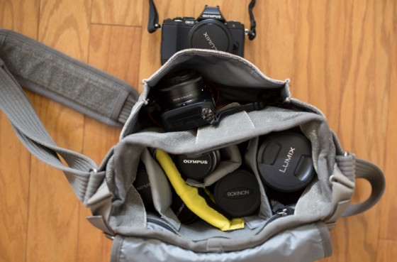 7 lenses, 2 cameras in one tiny bag
