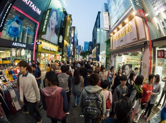 Crowded Seoul Streets