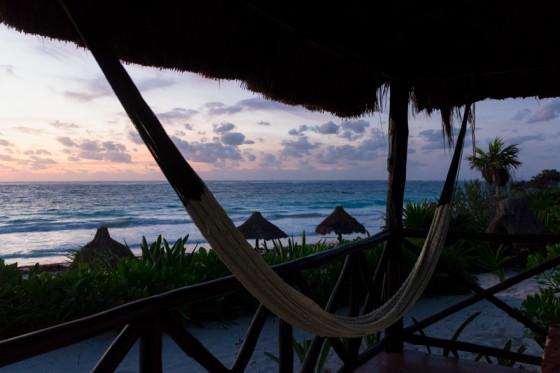 Tulum, Mexico beach hammock
