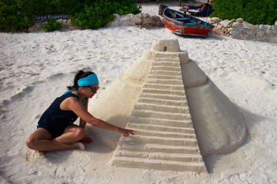 Chetchen Itza Beach Sandcastle