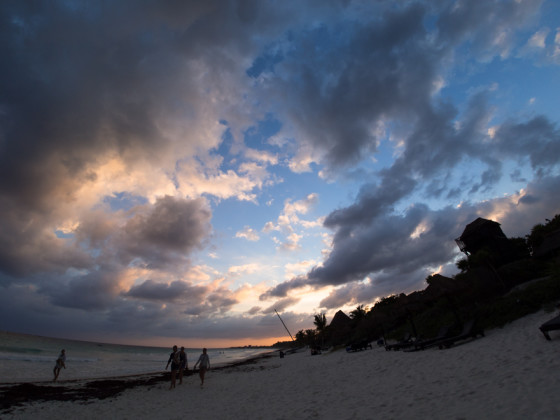 Beach Sunset - Rokinon 7.5mm fisheye - corrected
