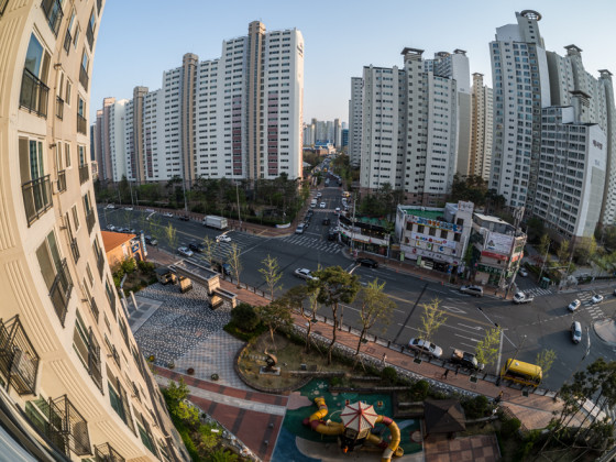 Daegu, Korea city - Fisheye with rokinon Samyang 7.5mm