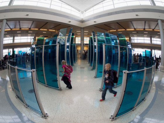 Dallas Airport - fisheye uncorrected - Samyang 7.5mm