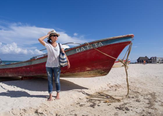Boats on Playa Del Carmen