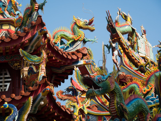 Dragons on Taiwanese Temple