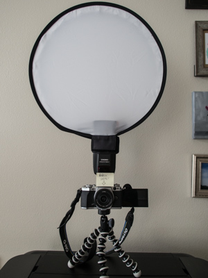 Easy light modifier for flash