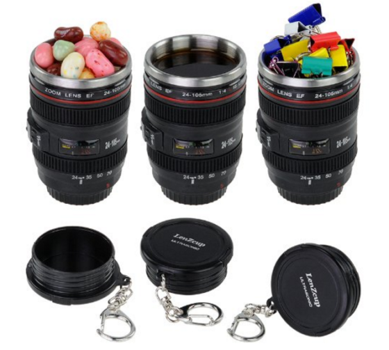 shotglasses shaped like camera lenses