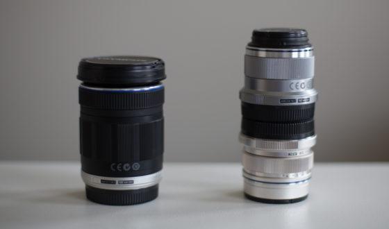 Space saving double lens cap