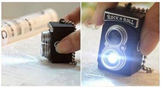 twin lens camera keychain vintage